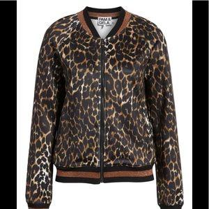 Jackets & Blazers - Pam & Gela Leopard Track Jacket